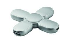 Spinner con 3 puertos 2.0 hub en ABS. Incluye cable micro USB.