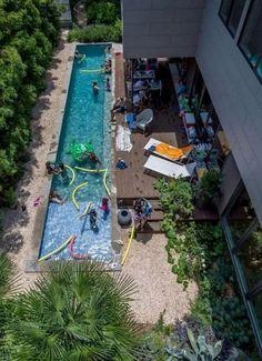 Common Layout Adjacency Green Line Pool Deck Architektur Swiming Pool, Swimming Pools Backyard, Swimming Pool Designs, Pool Decks, Pool Landscaping, Landscaping Design, Lap Pools, Backyard Pool Designs, Small Backyard Pools
