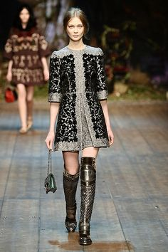 dolce and gabbana 2014- oh how I would love to own those boots!!
