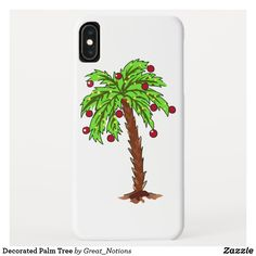 Decorated Palm Tree Case-Mate iPhone Case