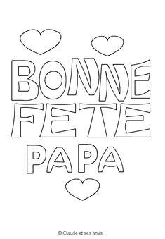 Coloriage à imprimer fête des pères fete des papas Bonne fête papa à colorier  gratuit 4984e4a285b