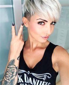 Ideas For Hair Cortes Corto Rubio Pixie Undercut Hair, Undercut Hairstyles, Pixie Hairstyles, Summer Hairstyles, Cool Hairstyles, Pixie Haircuts, Shaved Hairstyles, Short Hair Cuts, Short Hair Styles