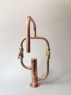 Deck-mount handmade copper tap Model 02 A by switchrange on Etsy