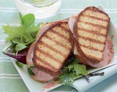 LCHF toast med ost og skinke