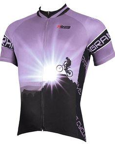 Jersey Outfit, Cycling Bikes, Purple Yellow, Road Bike, Mtb, Mountain Biking, Sport Outfits, Sleeves, Bike Clothing