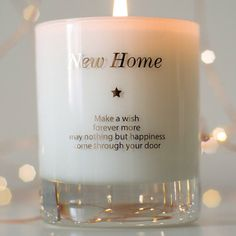 New Home Gift Housewarming Gift First Home by MakeAWishCandleCo