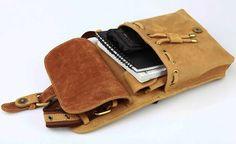 Vintage Men's Genuine Leather Shoulder Chest MXS  Sling Bags Backpack Messenger Bag | eBay