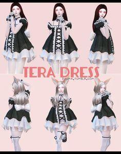 TERA Dress at Zauma via Sims 4 Updates Check more at http://sims4updates.net/clothing/tera-dress-at-zauma/