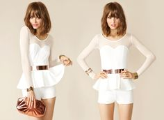 pretty peplum skirts, dresses, and rompers