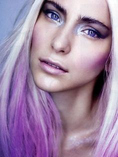 White Blonde and Purple - Hair Colors Ideas