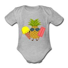 Geschenke Shop | Ananas - Baby Bio-Kurzarm-Body Baby Kind, Kind Mode, Babys, Onesies, Shirts, Kids, Clothes, Fashion, Pineapple