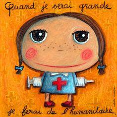 """Tableau d'Isabelle Kessedjian """"Quand je serai grande, je ferai de l'Humanitaire"""" - Le Coin des Créateurs"""
