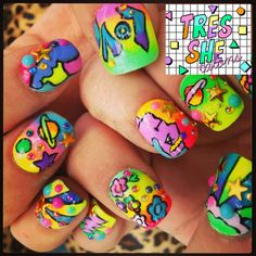 Peter Max inspired nails