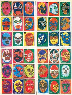 Visual Inspiration for Lucha Monstruo Luchador Mask, Wrestling Posters, Loteria Cards, Mexican Wrestler, Old Scool, Mexican Designs, Art Lessons Elementary, Arte Popular, Mexican Folk Art
