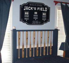 scoreboard sign and baseball bat headboard @kayleebrown-jarvis