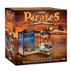 A pirate room is no complete without a sea of fish. Aquarium Set, Glass Aquarium, Pet Supermarket, Static Cling, Pirate Theme, Water Treatment, Kit, Wild Birds, A 17