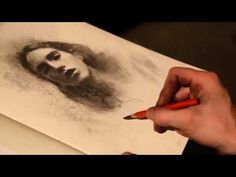 Casey Baugh portrait demo with interesting charcoal techniques- neat how he used water with charcoal..might try that now!