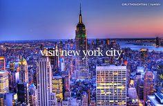 Visit New York City / Bucket List Ideas / Before I Die