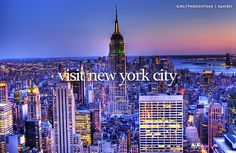 Visit New York City / Bucket List Ideas / Before I Die
