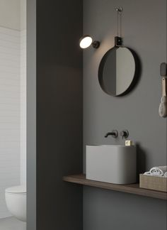P'tit is a small basin made in Korakril™ Ice White, available also in four other colours. It can also include some accessories especially studied. Bathroom Basin, Bathroom Toilets, Bathrooms, Small Toilet Room, Small Bathroom, Led Wall Lights, Mirror With Lights, Lave Main Design, Toilette Design