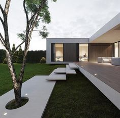 """Dope or nope? The House is a 230 sqm. modern home proposed to be built this year. Being placed on stilts, the main characteristic of the house is its visual impression of being a """"floating"""" home. The house is designed and visualized by Modern Architecture House, Amazing Architecture, Interior Architecture, Minimalist Architecture, Luxury Interior, Best Modern House Design, Modern Architects, Floating House, Facade House"""