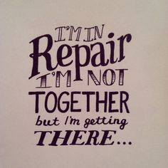 In Repair - lyrics by John Mayer Hand lettering by Greg Sanderson