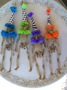 Custom Color Skeleton Halloween Ornament. $6.00, via Etsy.