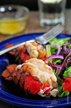 I want this right now. I'm not even kidding. -Y // Smoked Lobster Tails Recipe from addapinch.com