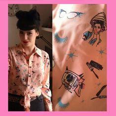 Retro shirt Vanessa Frankenstein
