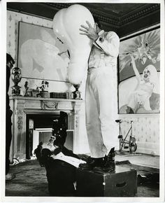 Kubrick on the set of Clockwork Orange