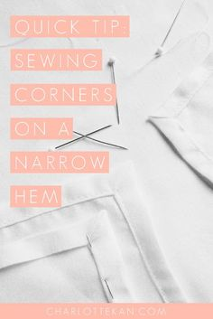 Don't you just hate it when your sewing machine tries to eat the corners of your sewing project? I've sewn a lot of corners on narrow hems and I always had prob