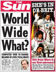 1991 cover - Web to change our lives... Not likely...