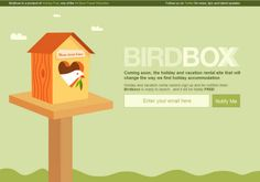 Birdboxx Coming Soon. - Awesome And Creative Coming Soon Or Under Construction Pages Design Landing Page Examples, Coming Soon Page, Holiday Accommodation, Web Layout, Vacation Rental Sites, Showcase Design, Page Design, Ux Design, Graphic Design