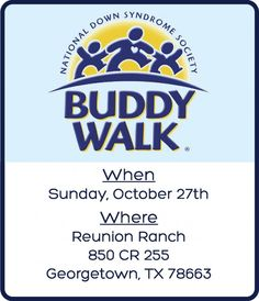 2013 Down Syndrome Buddy Walk Georgetown, TX #Kids #Events