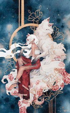 Nine, Kelogsloops, watercolor 2020 Pretty Art, Cute Art, Art Sketches, Art Drawings, Bd Art, Japon Illustration, Animes Wallpapers, Aesthetic Art, Asian Art