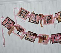 cowgirl birthday banner
