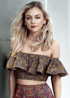 """Emily Kinney photographed by Brian Higbee for Marie Claire Magazine """"'I don't have anything too exotic—I do have an itty-bitty cabasa that I haven't really found a use for, but it's cute. I love cabasas. I have a couple in different..."""
