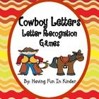 The little cowboys in your classroom will definitely love using these western themed letter recognition activities. The games that can be played us...