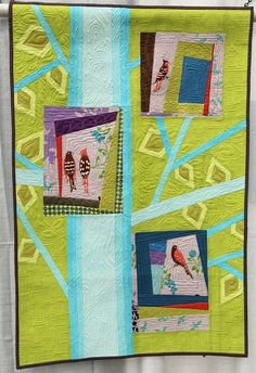 Title: 4 Birds Made and Quilted by Trisch Price