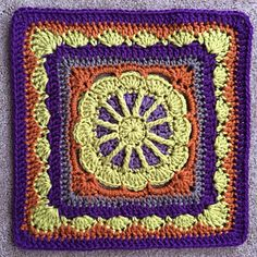 Gretchen Afghan Square Crochet Pattern from Julie Yeager