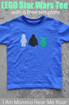 I Am Momma - Hear Me Roar: Lego Star Wars Tee (with a free template) @Dana Archer & @Sara Morey WES  WOULD LOVE THIS!!! so so cute!!!!! :)