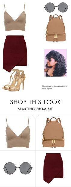 """her attitude kinda savage but her heart is gold ."" by qveenkyndall16 ❤ liked on Polyvore featuring MICHAEL Michael Kors and Forever 21"