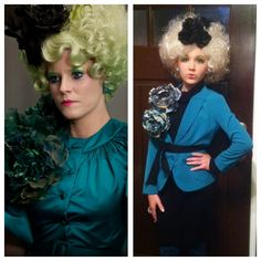 Effie Trinket costume- my 11 yr. old wanted  be her for Halloween. Had to make the costume myself...she loved it.