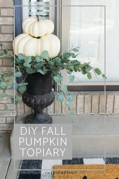 Home Decor Looking for some easy DIY fall pumpkin decor? It only takes a few minutes to create this beautiful, fall pumpkin topiary for your home. Cute Dorm Rooms, Cool Rooms, Diy Simple, Easy Diy, Succulent Garden Diy Indoor, Pumpkin Topiary, Diy Pumpkin, Easy Home Decor, Pumpkin Decorating