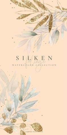 Welcome mother nature! This lovely romantic collection of handmade watercolor foliage is the perfect design collection to celebrate natural and organic but Flower Background Wallpaper, Flower Backgrounds, Background Patterns, Eucalyptus Leaves, Floral Logo, Flower Clipart, Lettering Tutorial, Logo Design Inspiration, Botanical Illustration
