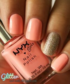 Love the color minus the one glitter nail!