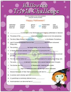 Inventive image with regard to printable halloween trivia