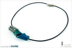 zarte Kette mit breiter Kaltporzellan-Perle