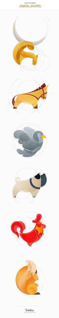 Inspiration graphique #6 : 25 logos avec une grille de construction   BlogDuWebdesign