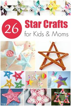 Kids Crafts Winter Happy Hooligans - Gorgeous Star Ornaments to Make. Christmas Crafts For Toddlers, Preschool Christmas, Crafts For Kids To Make, Christmas Activities, Toddler Crafts, Preschool Crafts, Kids Christmas, Holiday Crafts, Fun Crafts